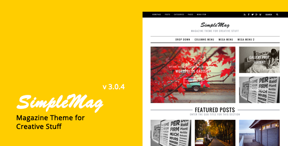 SimpleMag - Magazine theme